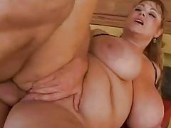 Chubby busty blonde pornstar gets her shaved taco rammed