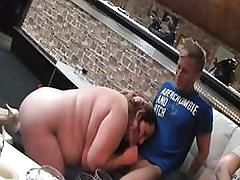 Naughty BBW enjoys sucking and fucking