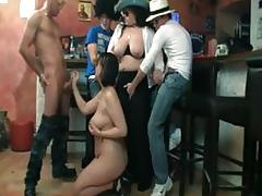 Sexy fatty blows and fucks horny cock