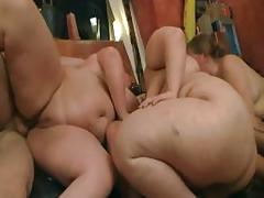 Group BBW orgy at the bar