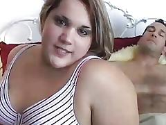 Beautiful blonde BBW enjoys a hard fucking
