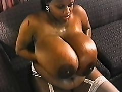Amazing Big Boobs Chick Warms Up