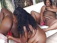 Another lesbian party with fat and big black girls