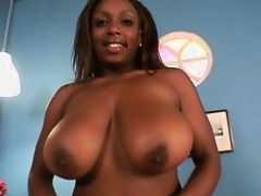 Black big boobs girl enjoy cum and big dick