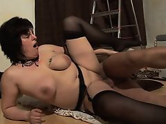 BBW GILF enjoys pounding from behind by hard dick