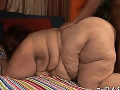 Chap cums on corpulent girlie after banging her very well