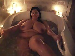 Sophia Takes a Bath Showing off her huge melons