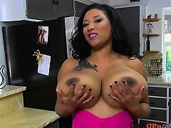 Busty Ebony GF Danni Lynne Gets Fingered By BF