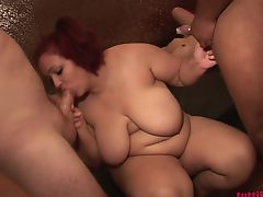 BBW Sandy swinger gang-bang party NEW